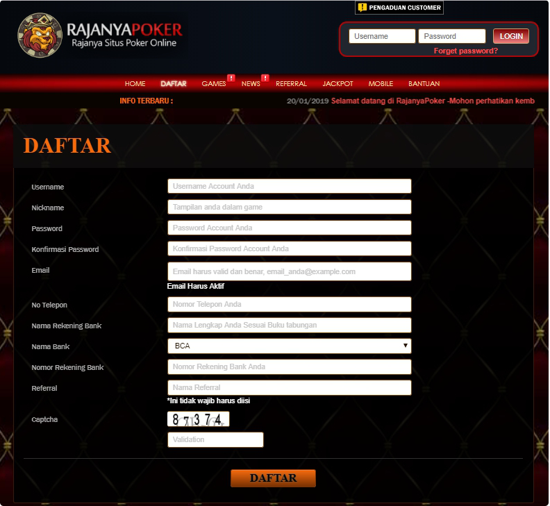 DAFTAR RAJANYAPOKER | Daftar Poker Online di RAJANYA POKER